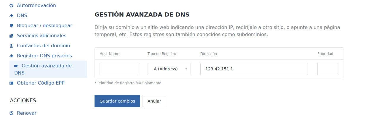Registros DNS - Registros A  A