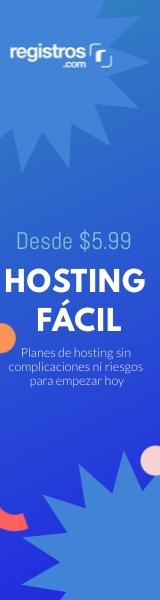 Hosting Fácil desde $5.99 - Registros.com
